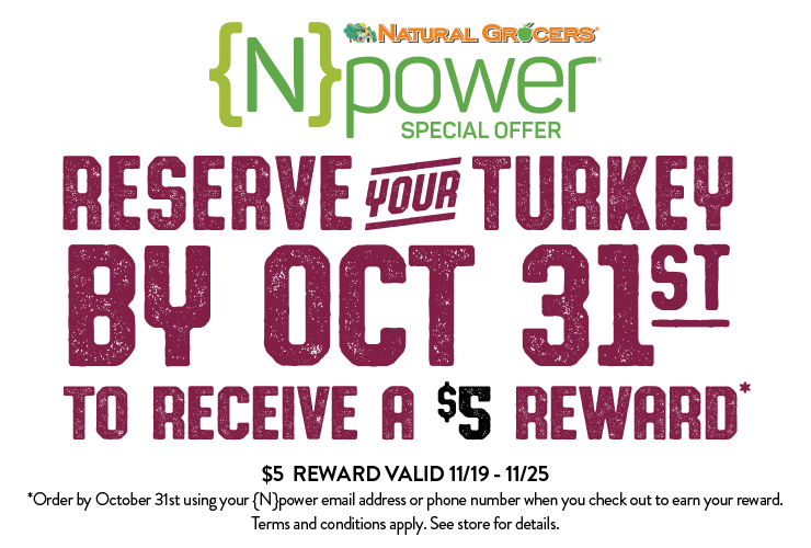 Reserve your turkey